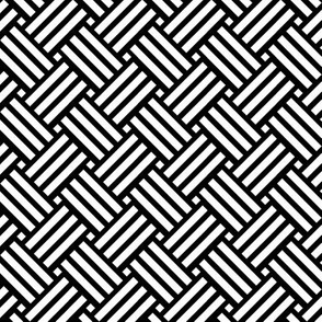 Geometric Basket Weave - Black & White
