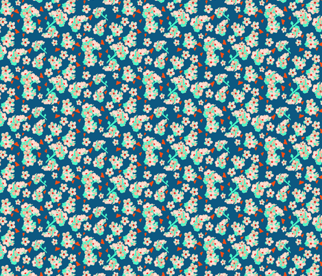 Blue forget me not Rozanne fabric by ellila on Spoonflower - custom fabric
