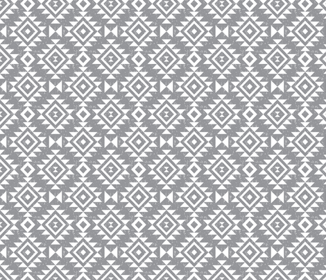 Textured Aztec - Whisper fabric by electrogiraffe on Spoonflower - custom fabric