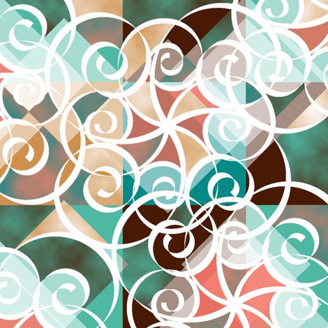 Diamond Swirls fabric by deanna_konz on Spoonflower - custom fabric