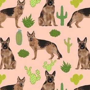 german shepherd dog cute cactus blush trendy desert plants cacti succulents dog dogs pet dog german shepherds