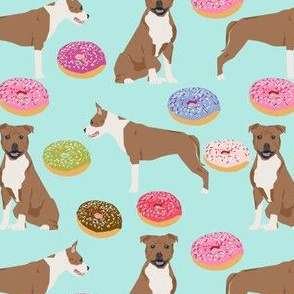 staffordshire terrier dog mint donuts doughnuts cute dogs pet pets food donuts