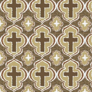 Christian Cross Taupe