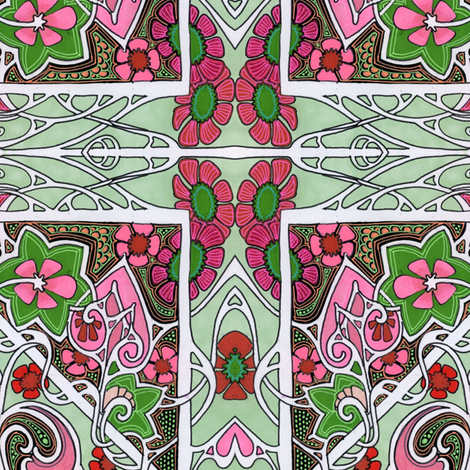 Christmas Morning, 1913 fabric by edsel2084 on Spoonflower - custom fabric