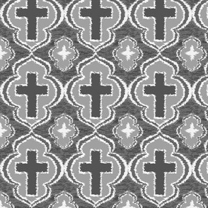 Christian Cross Gray