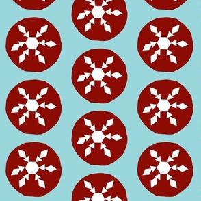 vintage christmas paper snowflake cutouts