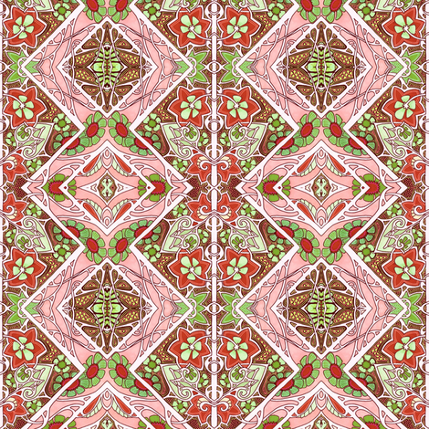 Red and Green Cheer fabric by edsel2084 on Spoonflower - custom fabric