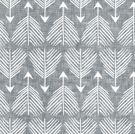 Good shot (grey linen) fabric by nouveau_bohemian on Spoonflower - custom fabric
