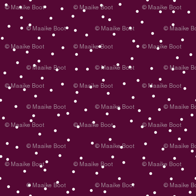 Colorful winter snow confetti fun little dots and circles spots flakes cherry maroon