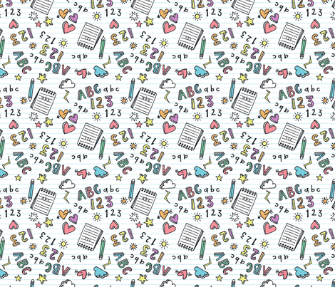abc doodle fabric laura designs spoonflower abc 123 doodle fabric by laura designs on custom fabric