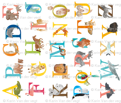 Animal ABC for kids - alphabet letters