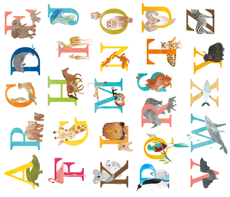 Animal ABC for kids - alphabet letters fabric by revista on Spoonflower - custom fabric