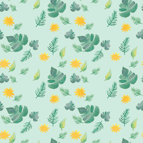 Tropical Leaves and Suns