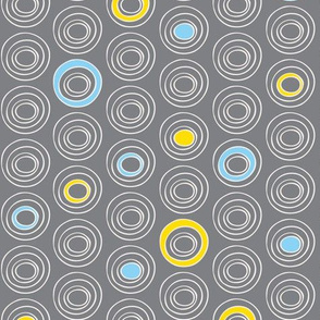 Orbit Dot - Circle Geometric Grey