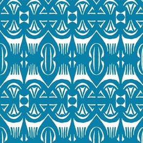 Tropical Drum Print Blue