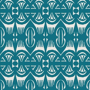 Tropical Drum Print - Indigo