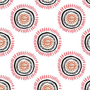 Cool abstract blossom flowers abstract circles fall coral