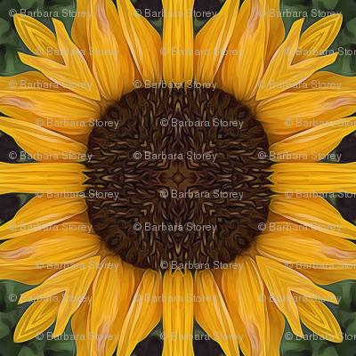 Folk Art Sunflower