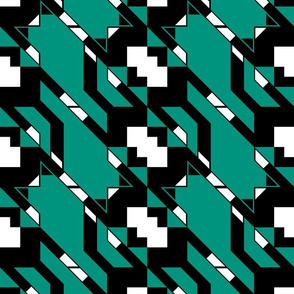 Houndstooth Flying Cat Diagonal