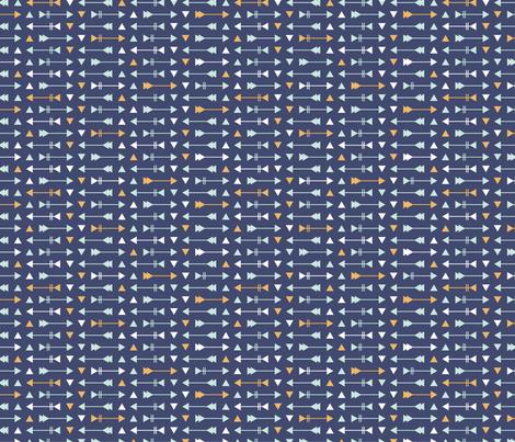 Arrow Stripes - Navy fabric by electrogiraffe on Spoonflower - custom fabric