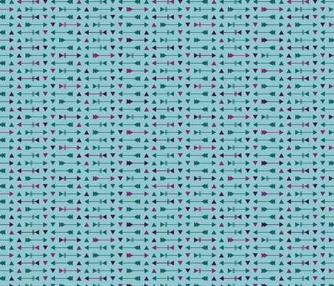 Arrow Stripes - Thunderstorm Teal fabric by electrogiraffe on Spoonflower - custom fabric