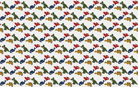 Dino Sketch// fabric by whitcarrillo on Spoonflower - custom fabric
