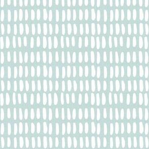 O B L O N G | white on aqua linen