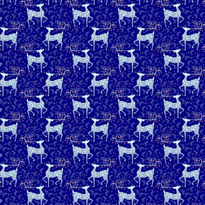 Christmas Reindeer on blue