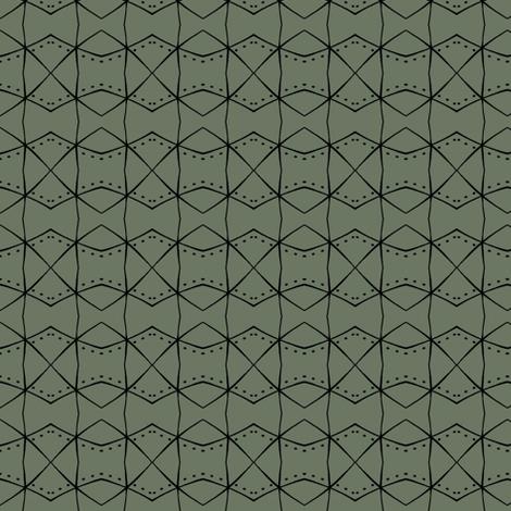 diamond dot zig zag in olive fabric by fiberdesign on Spoonflower - custom fabric