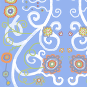 Balkan Flowers Blue