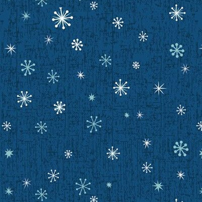 Retro Snowflakes - Blue