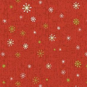 Retro Snowflakes - Red