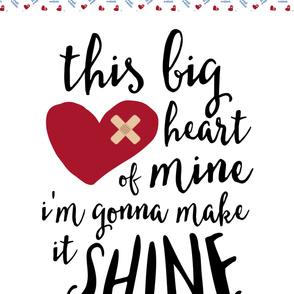 This big heart of mine - 2 yard minky design