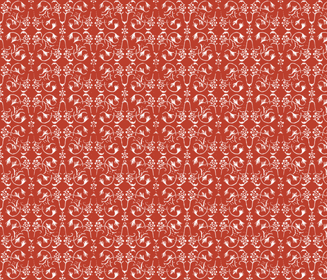 Vintage Belle - Chilli fabric by jodiebarker on Spoonflower - custom fabric