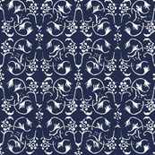 Vintage Belle - Light Navy