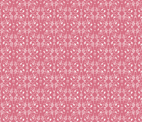 Vintage Belle - Musk Rose fabric by jodiebarker on Spoonflower - custom fabric