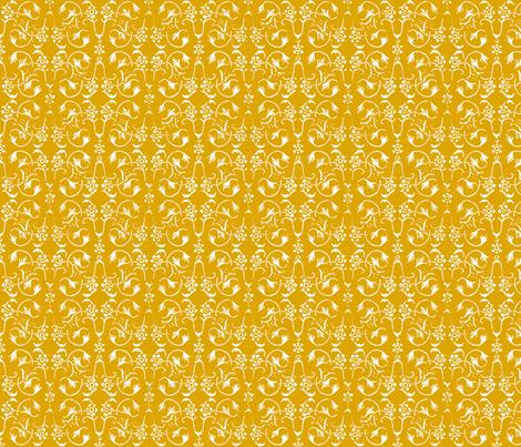 Vintage Belle - Mustard fabric by jodiebarker on Spoonflower - custom fabric