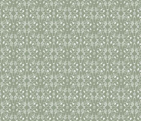 Vintage Belle - Pale Olive fabric by jodiebarker on Spoonflower - custom fabric