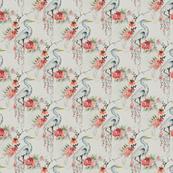 japanese crane - fabric