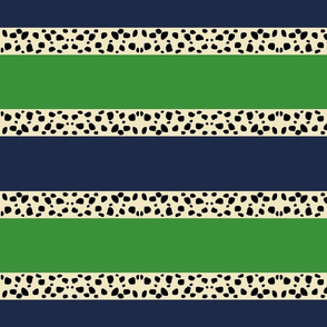 Cheetah Stripes Horizontal- Kelly Navy