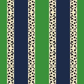 Cheetah Stripes VERTICAL- Kelly Navy