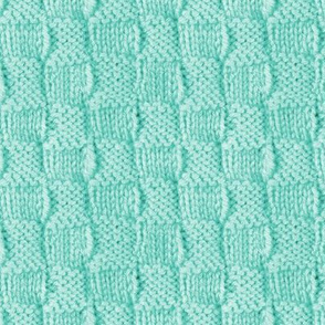 knitted wool in mint