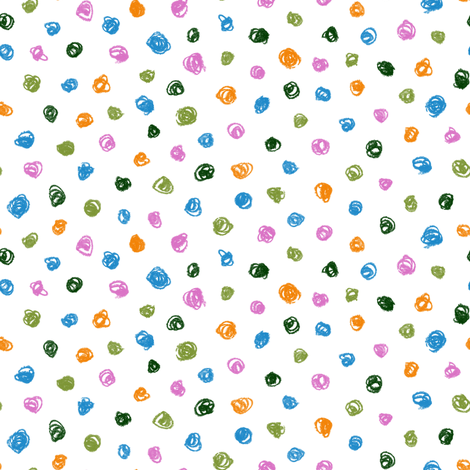 crayon polkadots in butterfly colors fabric by weavingmajor on Spoonflower - custom fabric
