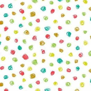 crayon polkadots in botanical colors