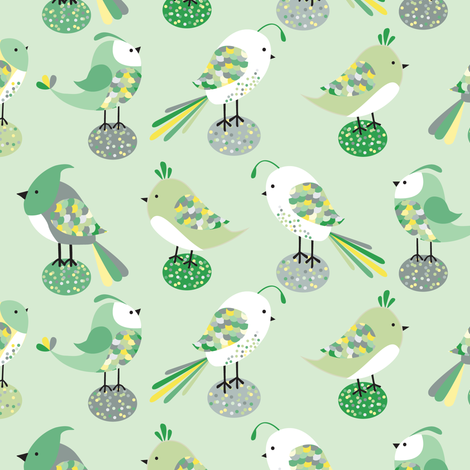 birds fabric by laura_mooney on Spoonflower - custom fabric