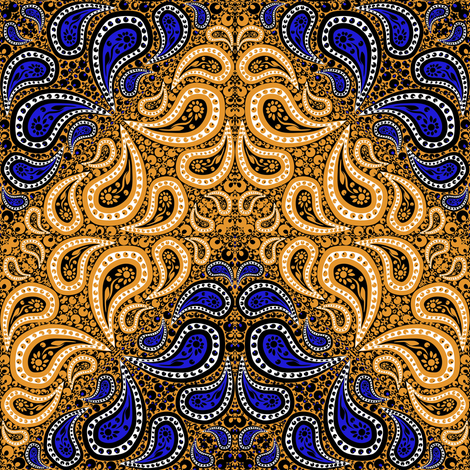 Counterchange Paisley Bandana Chevron 7 fabric by eclectic_house on Spoonflower - custom fabric