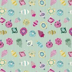 Retro Ornament on Mint_Miss Chiff Designs