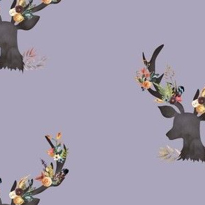 Autumn Deer in Dusty Lilac