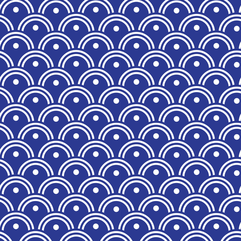 Blue and White Waves_Miss Chiff Designs fabric by misschiffdesigns on Spoonflower - custom fabric