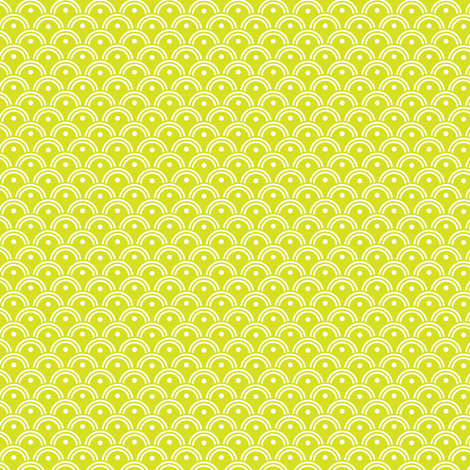 16-16J Spring Lime Green Scales waves clouds_Miss Chiff Designs fabric by misschiffdesigns on Spoonflower - custom fabric